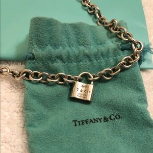 Tiffany & Co padlock pendant chocker necklace